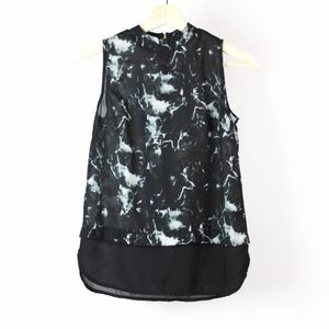 Japna Blouse Sleeveless Zip Back Size XS Black
